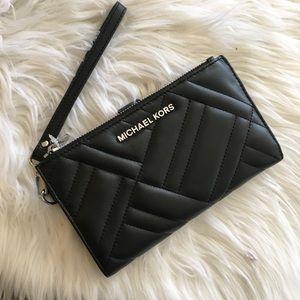 New Michael Kors Peyton double zipper wallet